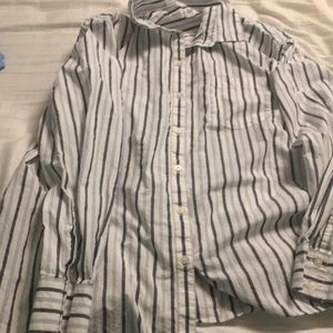 Gap. Stripe Boyfriend Shirt in Poplin